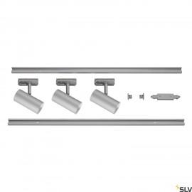 SLV NOBLO SPOT Silver1 Circuit Track Lighting Set 2700K 1002612