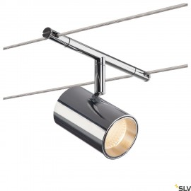 SLV TENSEO NOBLO, cable luminaire for low voltage cable system 2700K chrome 1002696