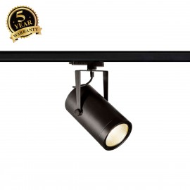 SLV EURO SPOT Black 3-Circuit LED Track Light DALI Dimable 4000K 60° 1002819