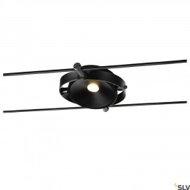 SLV DURNO cable luminaire for the TENSEO low voltage cable system 2700K black 1002861