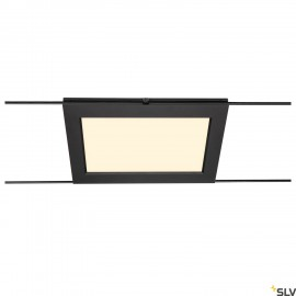 SLV PLYTTA rectangular cable luminaire for the TENSEO low voltage cable system 2700K black 1002864