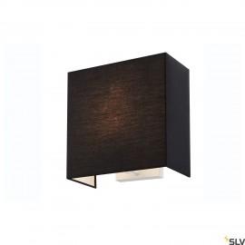 SLV ACCANTO SQUARE E27 Black wall light 1002942