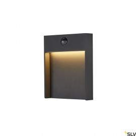 SLV FLATT SENSOR Outdoor LED wall light 3000K IP65 anthracite 1002954