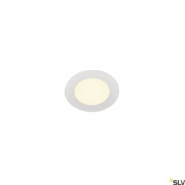 SLV SENSER 12 LED round recessed ceiling light white 3000K 1003008