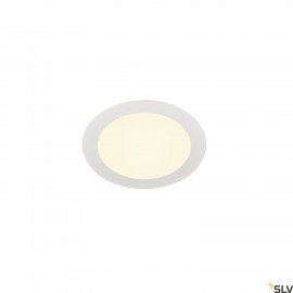 SLV SENSER 18 LED round recessed ceiling light white 3000K 1003009