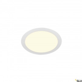 SLV SENSER 24 LED round recessed ceiling light white 3000K 1003010