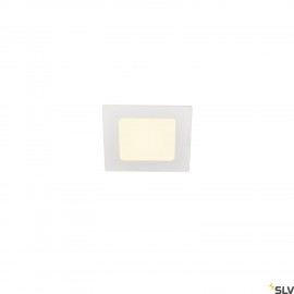 SLV SENSER 12 LED square recessed ceiling light white 3000K 1003011