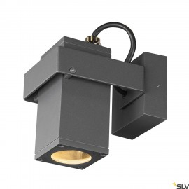 SLV THEO BRACKET CW outdoor wall and ceiling-mounted light QPAR51 anthracite 1004653
