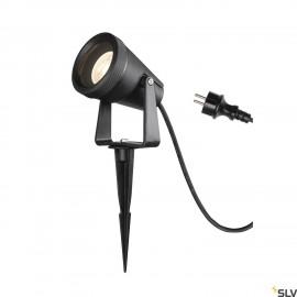 SLV SAMRING SP single QPAR51 outdoor ground spike light black 1004757