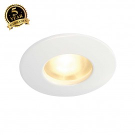 SLV 111011 OUT 65 downlight, round, white, MR16, max. 35 W