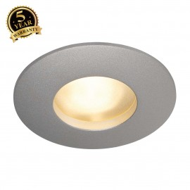 SLV 111019 OUT 65 downlight, round,silver-grey, MR16, max. 35W