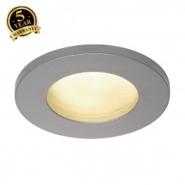 SLV 111024 DOLIX OUT GU10 ROUND downlight, silver-grey, max. 35W
