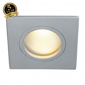 SLV 111128 DOLIX OUT MR16 SQUARE downlight, silver-grey, max.35W