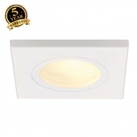 SLV 111141 DOLIX OUT GU10 SQUARE downlight, white, max. 35W