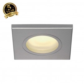 SLV 111144 DOLIX OUT GU10 SQUARE downlight, silver-grey, max.35W