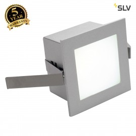 SLV FRAME BASIC LED recessed light , square, silver-grey, white LED 111260