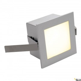 SLV 111262 FRAME BASIC LED recessed light, square, silver-grey, warmwhite LED