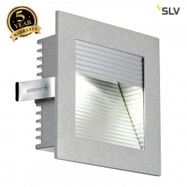 SLV 111290 FRAME CURVE LED recessed light, square, silver-grey, whiteLED