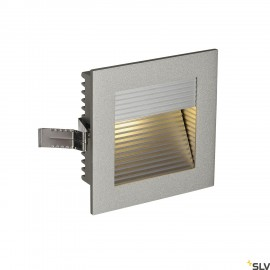 SLV 111292 FRAME CURVE LED recessed light, square, silver-grey, warmwhite LED