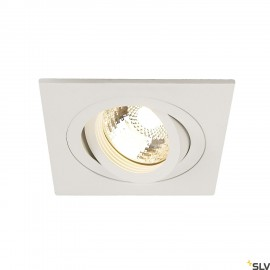 SLV 111721 NEW TRIA I GU10 downlight,square, matt white, max. 50W,incl. leaf springs