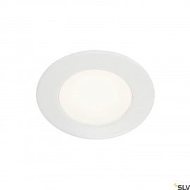 SLV 112221 DL 126 LED downlight, round,white, 3W LED, warm white, 12V