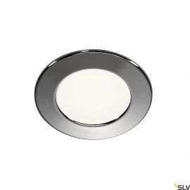 SLV 112222 DL 126 LED downlight, round,chrome, 3W LED, warm white,12V
