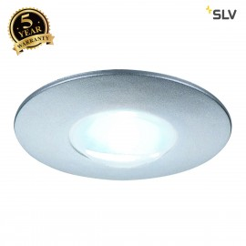 SLV 112240 DEKLED recessed light, round,silver metallic, 1W LED, white, 4000K