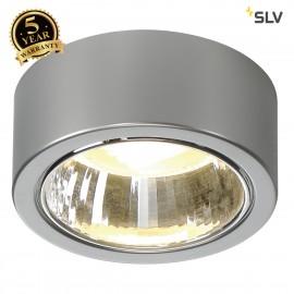 SLV 112284 CL 101 GX53 ceiling light,round, silver-grey, max. 11W