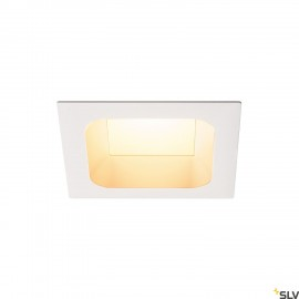 SLV 112692 VERLUX, recessed fitting, LED, 3000K, matt white, L/B/T 13.5/13.5/7.5 cm, 20W