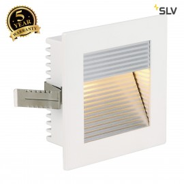 SLV 112771 FLAT FRAME CURVE recessedlight, square, white, G4, max.20W