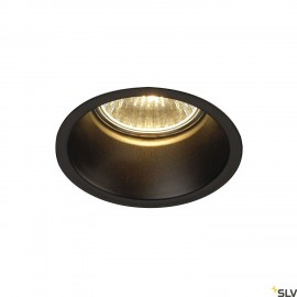 SLV 112910 HORN GU10 downlight, round,matt black, max. 50W