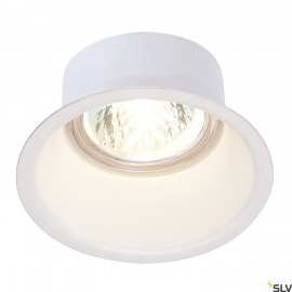 SLV 112911 HORN GU10 downlight, round,white, max. 50W