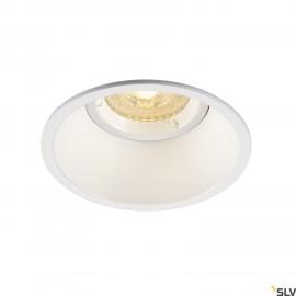 SLV 113161 HORN-O GU10, steel, 1x GU10max. 50W, matt white, IP21,incl. clip springs