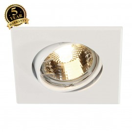 SLV 113211 GU10 SP SQUARE downlight,square, white, GU10 max. 50W
