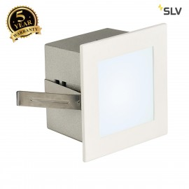 SLV 113260 FRAME BASIC LED recessed light, square, matt white, whiteLED