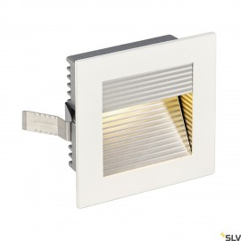 SLV 113292 FRAME CURVE LED recessed light, square, matt white, warmwhite LED