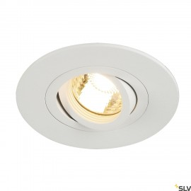 SLV 113441 NEW TRIA XL ROUND GU10downlight, matt white, max.50W, incl. clip springs