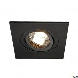 SLV 113450 NEW TRIA XL SQUARE GU10downlight, matt black, max.50W, incl. clip springs