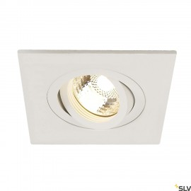 SLV 113451 NEW TRIA XL SQUARE GU10downlight, matt white, max.50W, incl. clip springs