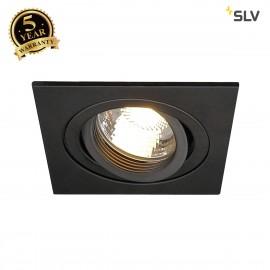 SLV 113481 NEW TRIA I MR16 downlight,square, matt black, max. 50W,incl. clip springs