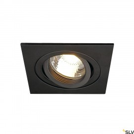SLV 113491 NEW TRIA I GU10 downlight,square, matt black, max. 50W,incl. clip springs