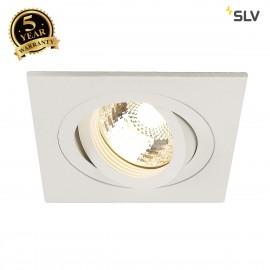 SLV 113501 NEW TRIA I MR16 downlight,square, matt white, max. 50W,incl. clip springs