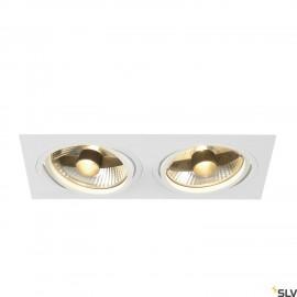 SLV 113841 NEW TRIA ES111 SQUARE, white,2x GU10, max. 2x 75W, incl.leaf springs