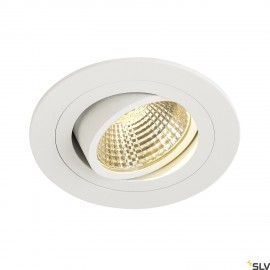 SLV 113871 NEW TRIA LED DL ROUND SET,downlight, matt white, 6W, 38°, 2700K, incl. driver,