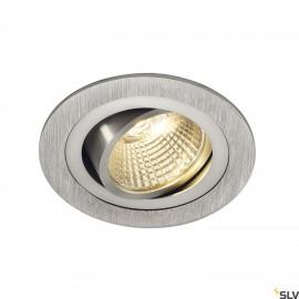 SLV 113876 NEW TRIA LED DL ROUND SET,downlight, alu brushed,6W,38°,2700K, incl. driver, springs