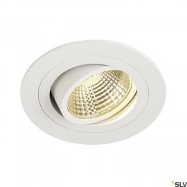 SLV 113901 NEW TRIA DL ROUND SET,downlight, matt white, 6W, 38°, 3000K, incl. driver,