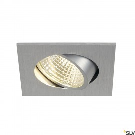SLV 113966 NEW TRIA LED 3W DL SQUARE SET,downlight, alu brushed, 38°,3000K, incl. driver, springs