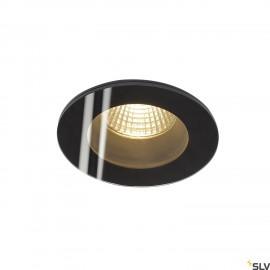 INTALITE 114440 PATTA-I recessed ceiling light, round, matt black, 9W, 38°,3000K, incl. driver