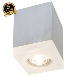 SLV 114740 TIGLA SQUARE downlight, alubrushed, GU10, max. 50W, withfrosted acrylic
