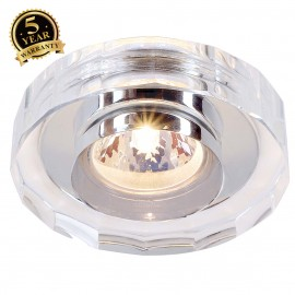 SLV 114921 CRYSTAL II downlight,chrome/crystal clear, MR16,max. 35W